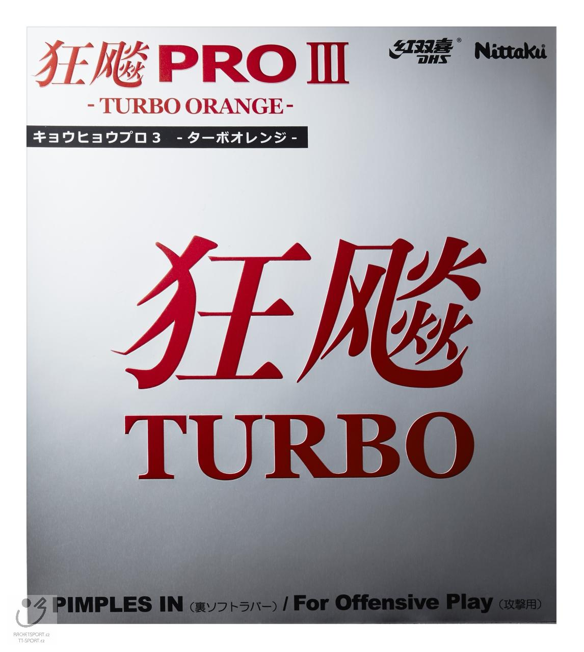 Nittaku Hurricane Pro III Turbo Orange